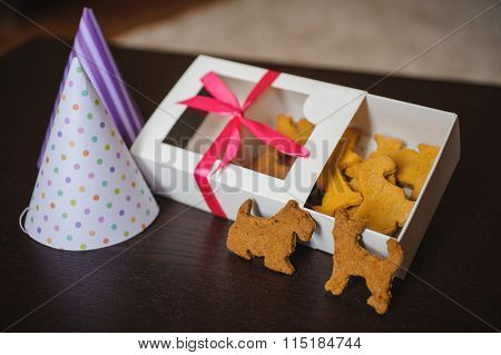 Dog Shaped Pet Cookies In Box