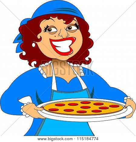 Chef And Pizza