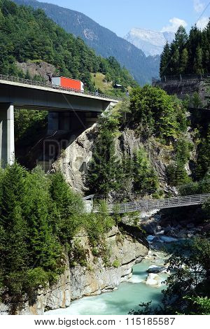 Truck And Bridges