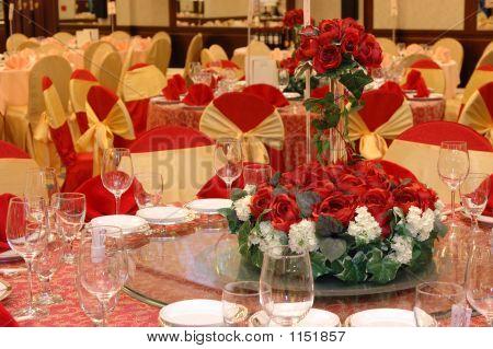 Banquete de boda ajuste de la tabla