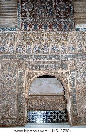 Moorish archway, Alhambra Palace.