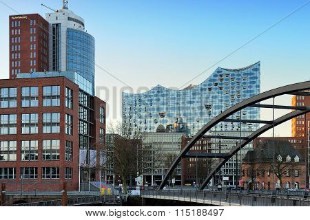 The Hanseatic Trade Center And Concert Hall Elbphilharmonie, Ham