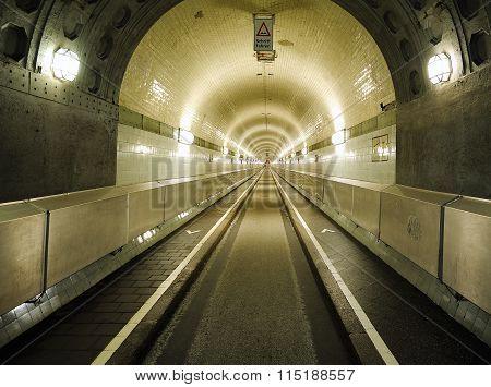 The Old Elbe Tunnel (elbtunnel), Hamburg, Germany
