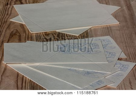 Decorative Envelopes And Paper. Writing Letters.
