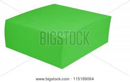 Packed Block Of Note Paper - Green