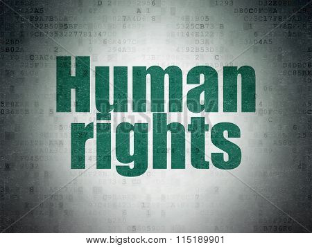 Political concept: Human Rights on Digital Paper background