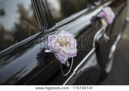 Car Handle Flowers Wedding Decorations