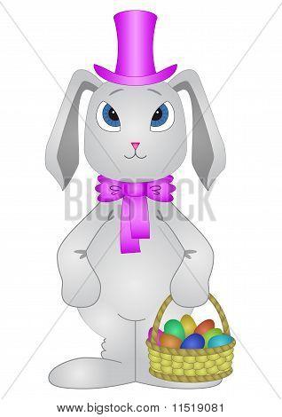Conejo con huevos de Pascua