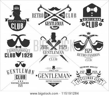 Vintage Gentlemen Club Logos Collection