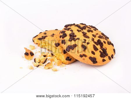 Bitten Cookie With Chocolate