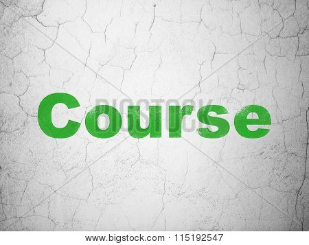 Studying concept: Course on wall background