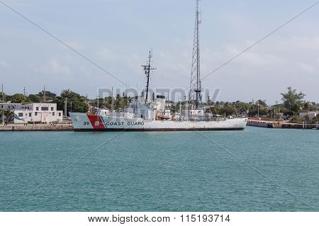 Navy Station With Coast Guard Cutter