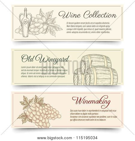 Wine and wine making banners