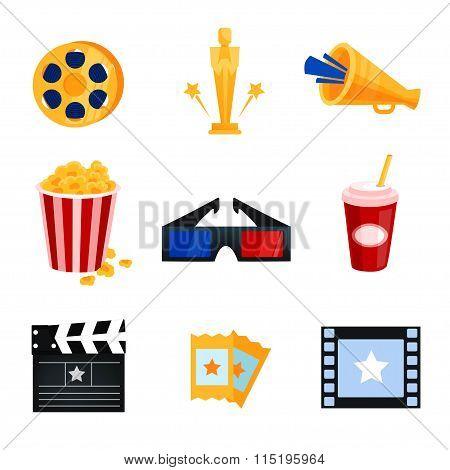 cinema icons vector