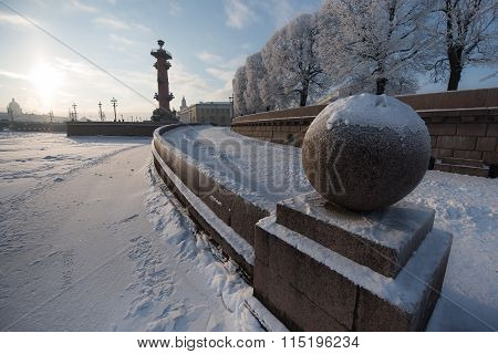 Stone Ball On The Neva River