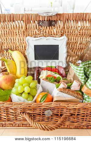 Filled Picnic Basket