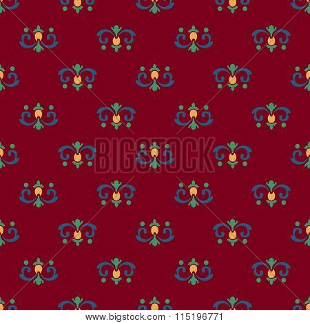 Seamless pattern of royal lilies