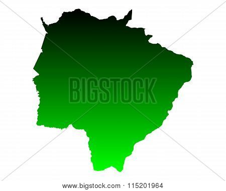 Map Of Mato Grosso Do Sul