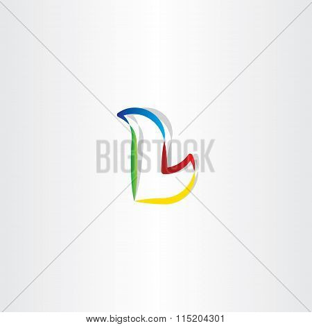 Colorful Letter L Gradient Logo Icon