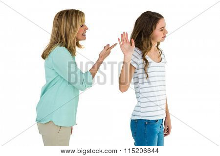 Mother arguing with her daughter