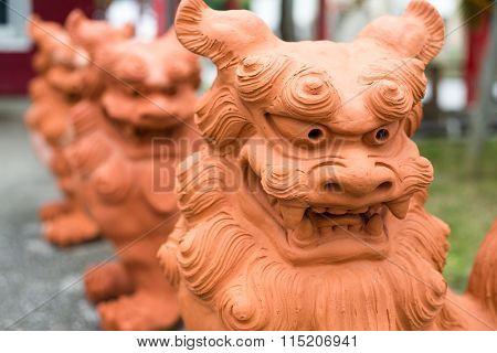 Lion statue in japan