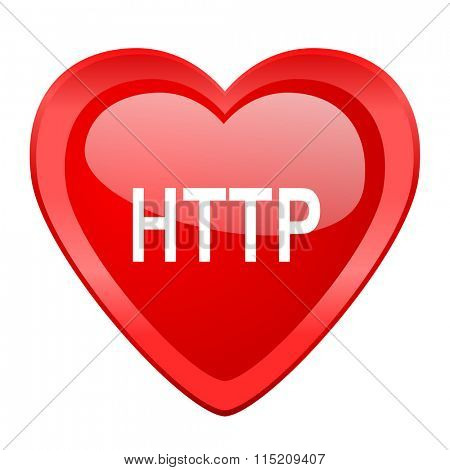 http red heart valentine glossy web icon