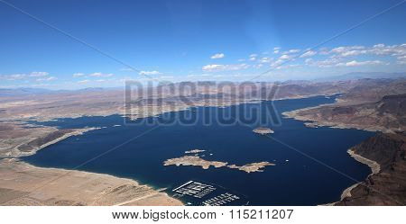 Aerial View Of Lake Mead, Arizona, Usa