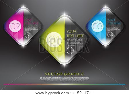Abstract vector banners set of 3.