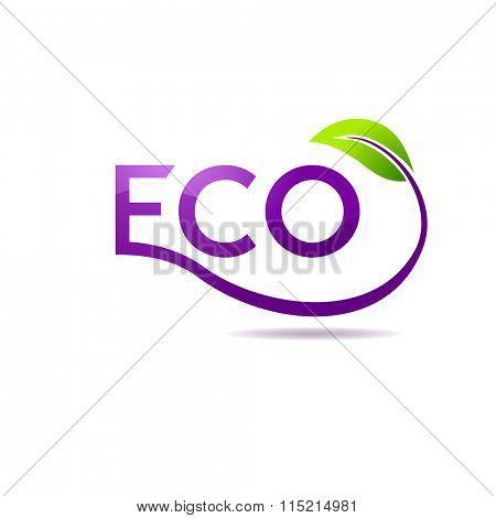 Green leaf logo design template. Garden logotype creative concept. Eco idea ecology icon - Raster copy