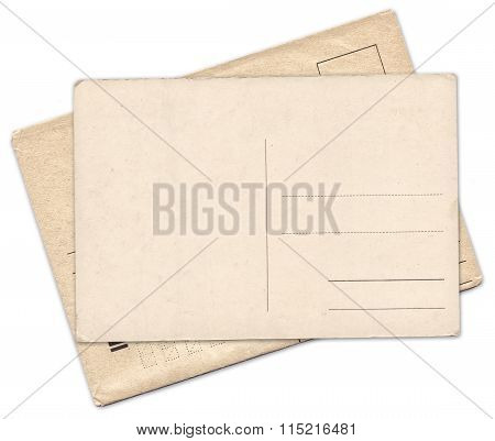 Vintage Old Postcard And Envelope Isolated