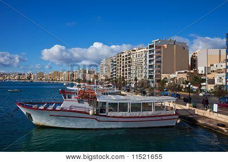 Sliema And Boats