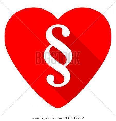 paragraph red heart valentine flat icon