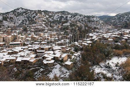 Kakopetria Village During Winter Troodos Cyprus