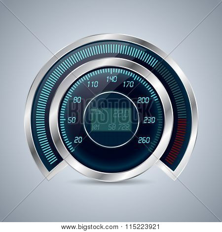 Fully Digital Speedometer Rev Counter
