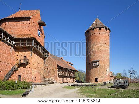 The building of the Turaida castle. Latvia