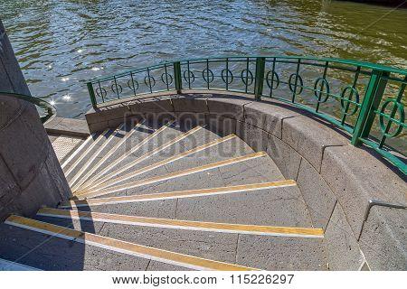 Melbourne Princes bridge stairs