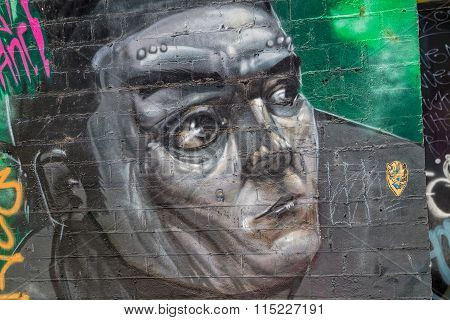 Melbourne graffiti gray man