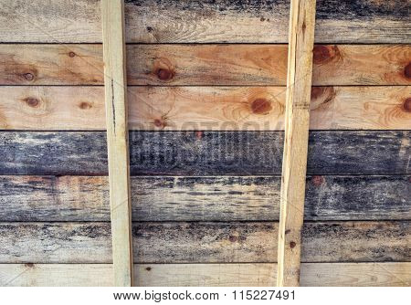Wooden roof background