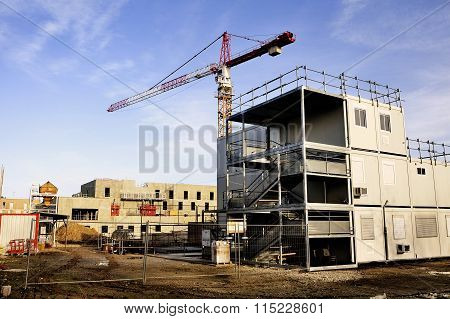 Construction Site Of New Buildings