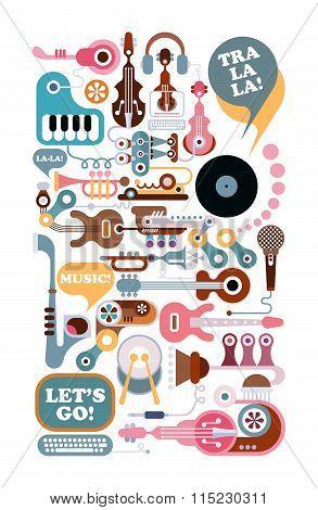 Music Art Illustration