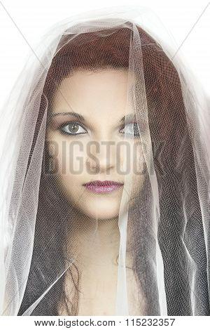 Girl Under Veil
