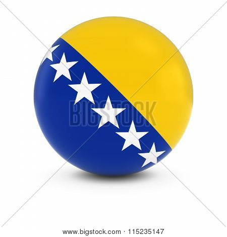 Bosnian And Herzegovinian Flag Ball - Flag Of Bosnia And Herzegovina On Isolated Sphere