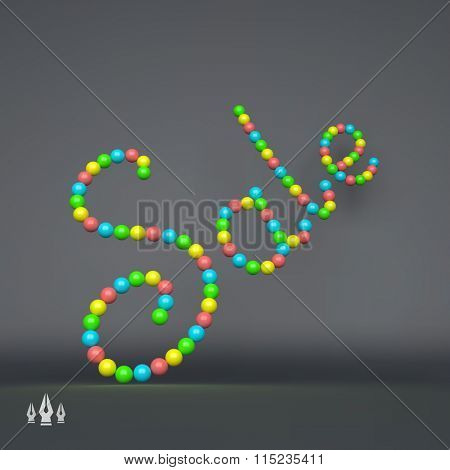 SALE. 3D Vector Text illustration. Usable for Different Business Design.
