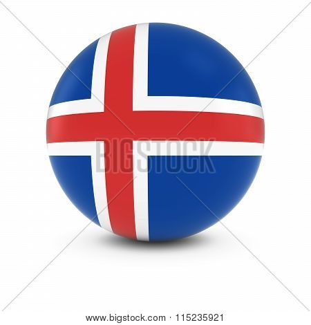Icelandic Flag Ball - Flag Of Iceland On Isolated Sphere