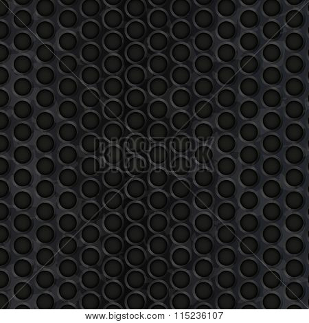 Dark Metal Texture With Copy Space. Vector Illustration
