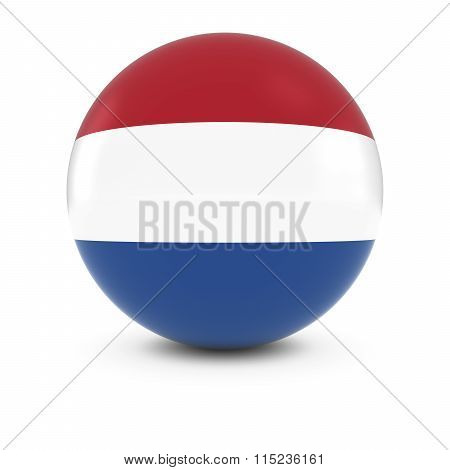 Dutch Flag Ball - Flag Of The Netherlands On Isolated Sphere