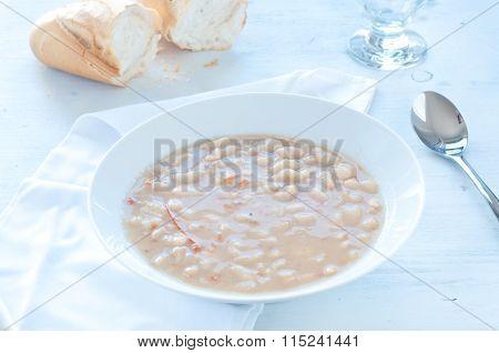 Borlotti Bean Soup With Tomato And Olive Oil