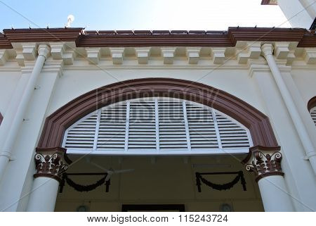 Architectural detail at the Muhammadi Mosque The Kelantan State Mosque