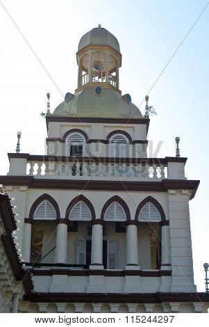 Minaret of Muhammadi Mosque or The Kelantan State Mosque in Kelantan, Malaysia