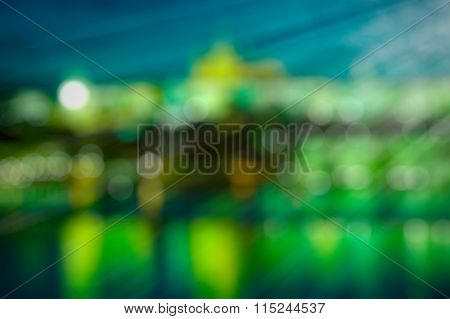 Abstract background in green with bokeh